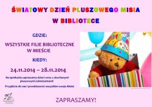 Światowy Dzień Pluszowego Misia-plakat