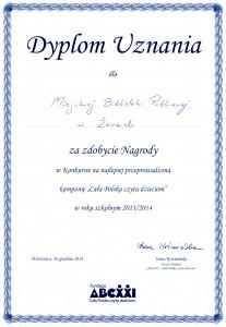 Dyplom CPCD 2014