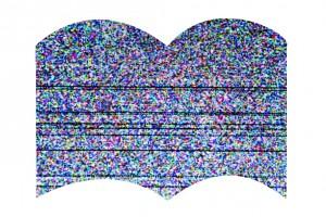 Szum telewizyjny w kształcie książki (grafika)