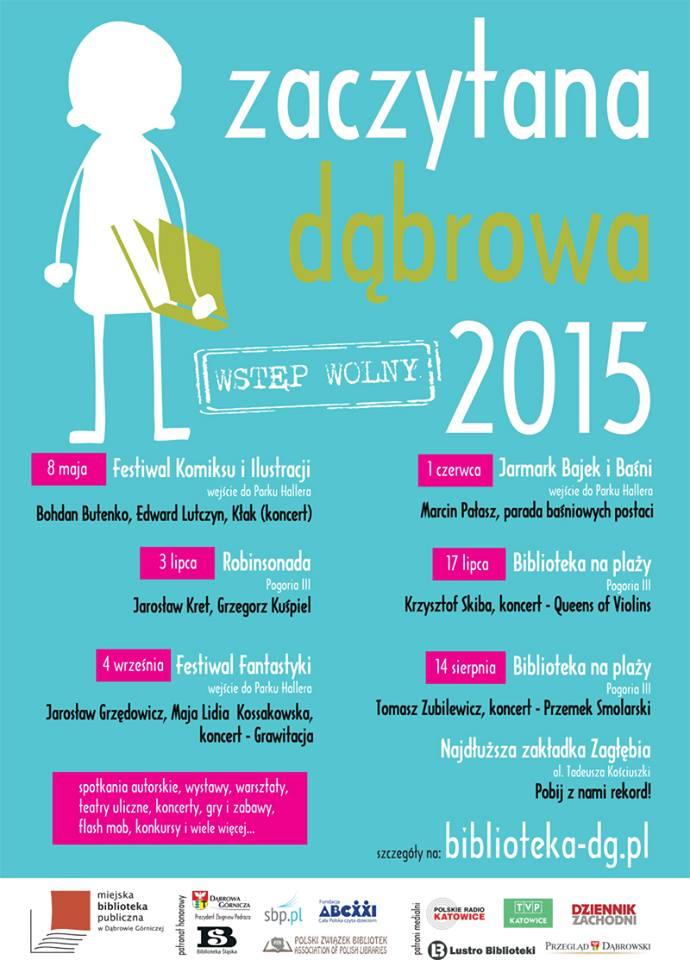 Plakat Zaczytana Dąbrowa