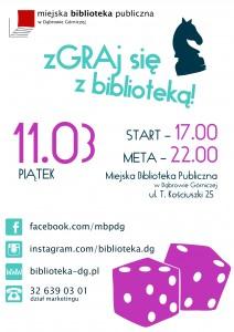 Zdgraj się z biblioteką - plakat