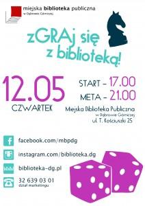 Plakat Zgraj się z biblioteką