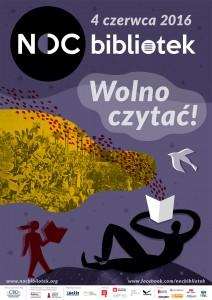 Noc bibliotek 2 Siemianowice Śląskie plakat