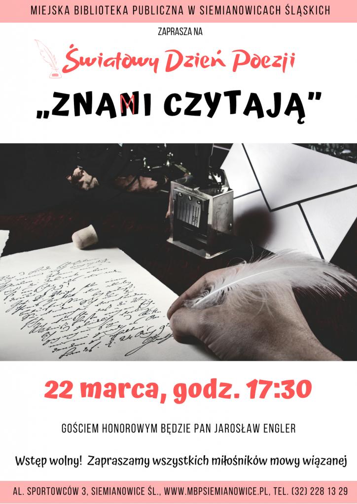 Plakat Światowy Dzień Poezji